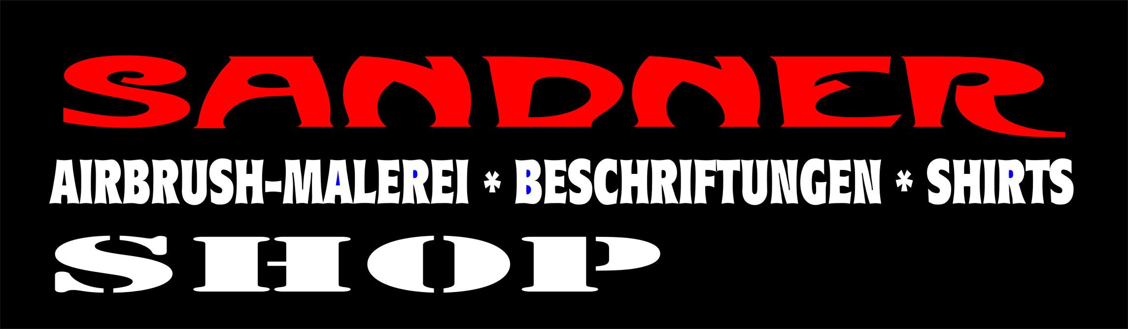 T-Shirts, Airbrush, Aufkleber-Logo
